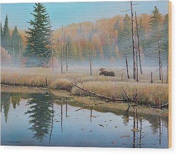 Mists Of Dawn Wood Print