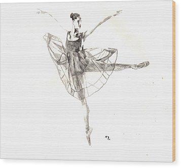 Misty Ballerina Dancer IIi Wood Print
