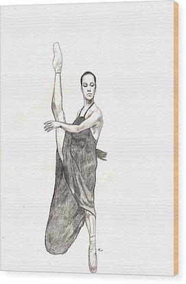 Misty Ballerina Dancer  Wood Print