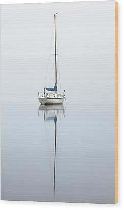 Wood Print featuring the photograph Misty Boat by Grant Glendinning