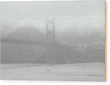 Misty Bridge Wood Print by Donna Blackhall