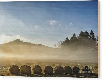 Wood Print featuring the photograph Misty Country Morning by Thomas R Fletcher