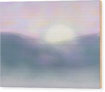 Misty Dawning Wood Print