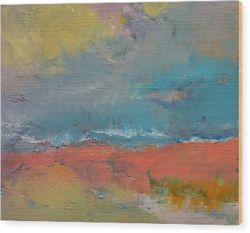 Misty Wood Print by Michael Creese