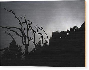 Misty Montserrat Wood Print by Jason Hochman