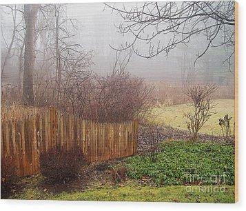 Misty Morn Wood Print by Betsy Zimmerli