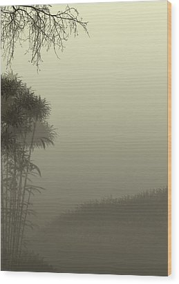 Misty Morn Wood Print by Trilby Cole