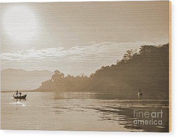 Misty Morning 2 Wood Print by Kiran Joshi
