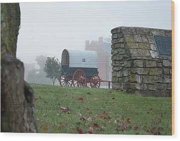 Wood Print featuring the photograph Misty Morning At Fort Smith National Historic Site - Arkansas by Gregory Ballos