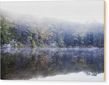 Misty Morning At John Burroughs #2 Wood Print