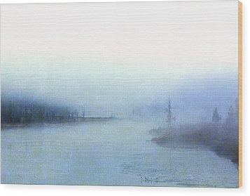 Misty Morning Wood Print by Catherine Alfidi