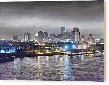 Misty Morning In New Orleans Wood Print by Dan Dooley