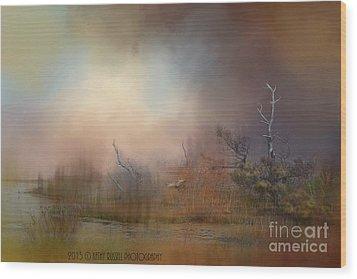 Misty Morning Wood Print