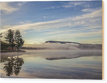 Misty Morning Wood Print by Mark Papke