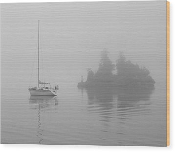 Wood Print featuring the photograph Misty Morning by Mark Alan Perry