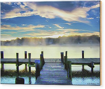 Wood Print featuring the photograph Misty Morning On Rock Creek by Brian Wallace