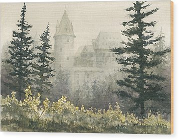 Misty Morning Wood Print by Sam Sidders