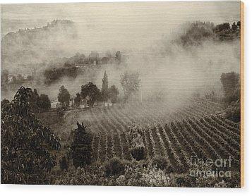 Misty Morning Wood Print by Silvia Ganora