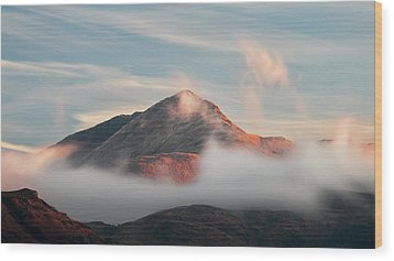 Wood Print featuring the photograph Misty Mountain by Grant Glendinning