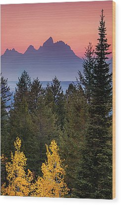 Wood Print featuring the photograph Misty Mountain Sunset by Andrew Soundarajan