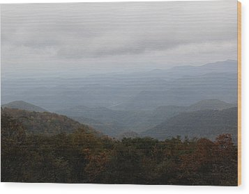 Misty Mountains More Wood Print