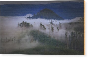 Wood Print featuring the photograph Misty Mountains by Tim Nichols