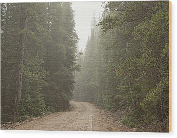 Wood Print featuring the photograph Misty Road by James BO Insogna