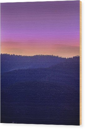 Wood Print featuring the photograph Misty Rockies Sunrise by Rod Seel