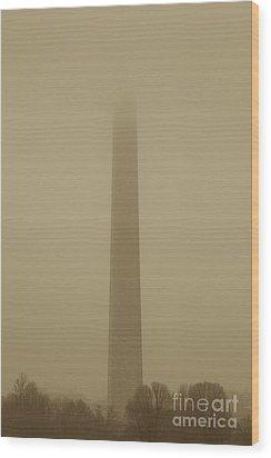 Misty Sky Wood Print by Hideaki Sakurai