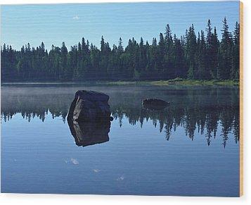 Misty Summer Morning Wood Print
