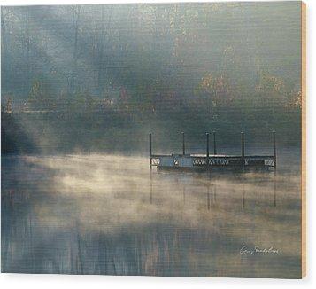 Misty Sunrise Wood Print