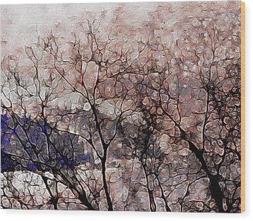 Misty Sunrise On Whidbey Island Wood Print