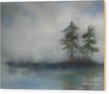 Misty Waters Wood Print by Vivian  Mosley