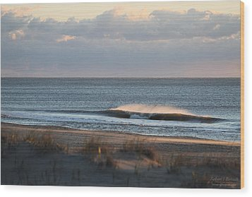 Misty Waves Wood Print