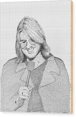Mitch Hedberg In His Own Jokes Wood Print by Phil Vance