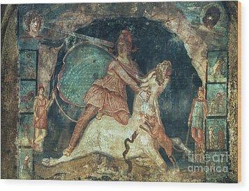 Mithras Killing The Bull Wood Print by Granger