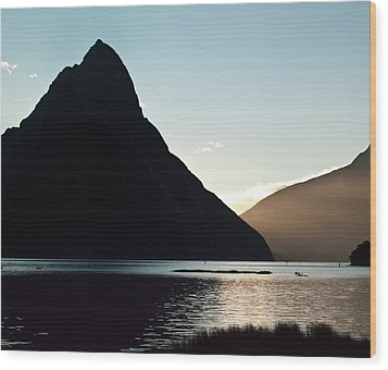 Mitre Peak Milford Sound New Zealand Wood Print