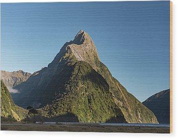 Wood Print featuring the photograph Mitre Peak Rahotu by Gary Eason