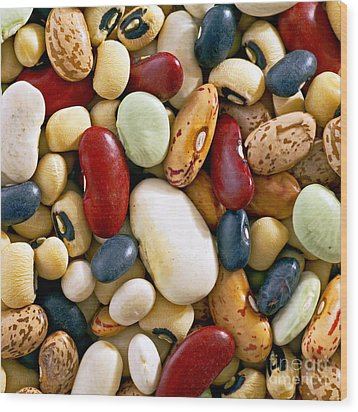 Mixed Beans Wood Print