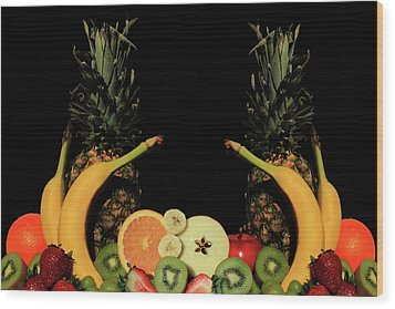 Wood Print featuring the photograph Mixed Fruits by Shane Bechler