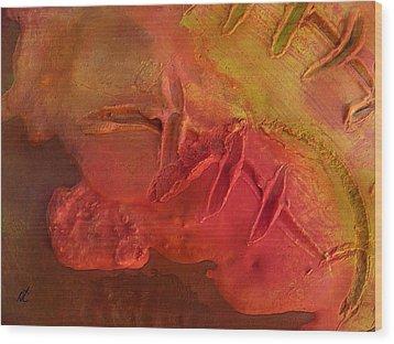 Mixed Media 06 By Rafi Talby Wood Print by Rafi Talby