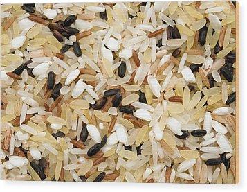 Mixed Rice Wood Print