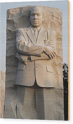 Mlk Memorial In Washington Dc Wood Print by Brendan Reals