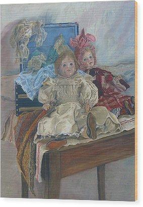 Mlle. Pinchon Wood Print by Miriam A Kilmer