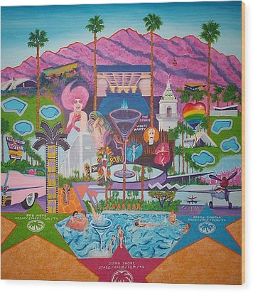 mmmm... Palm Springs Wood Print by Randall Weidner