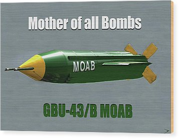 Wood Print featuring the painting Moab Gbu-43/b by David Lee Thompson