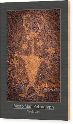 Moab Man Poster Wood Print by Gary Whitton