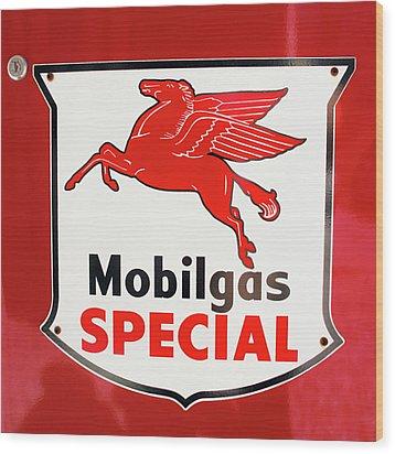 Mobilgas Vintage 82716 Wood Print