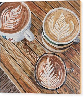 Mocha Trinity Wood Print