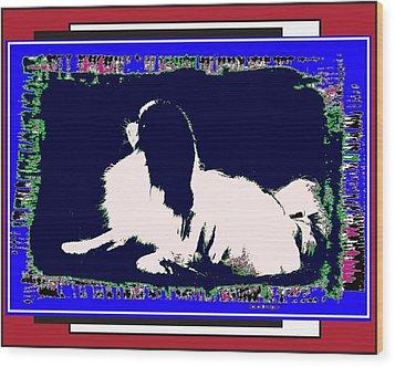 Mod Dog Wood Print by Kathleen Sepulveda
